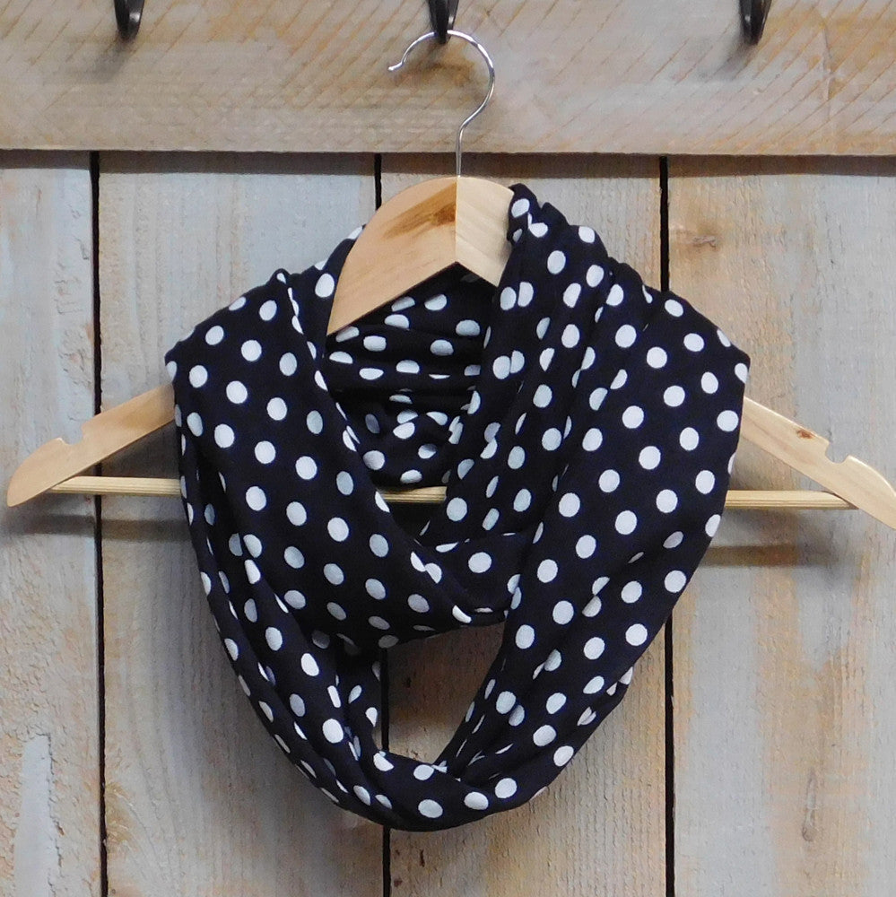 Playful Polkadot Infinity - Black - Tickled Pink Wholesale