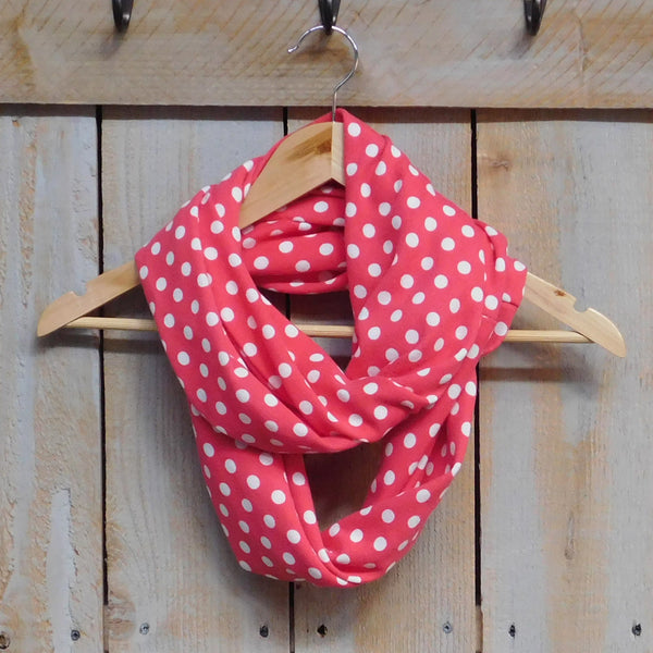 Wholesale Scarves - Playful Polkadot Infinity - Coral - Tickled Pink