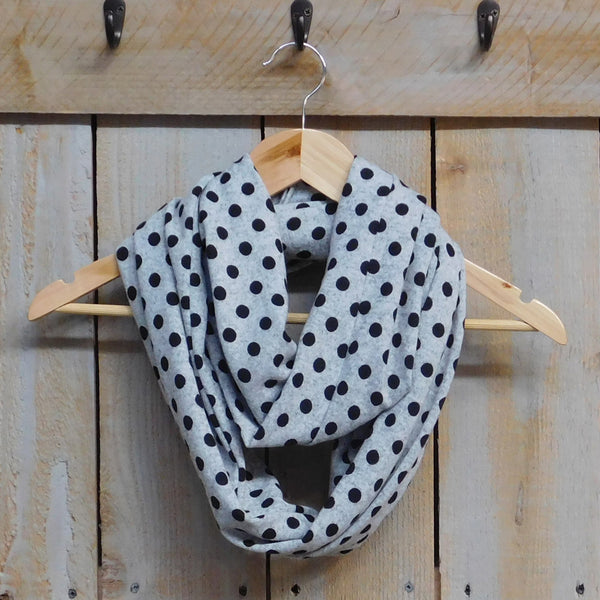Wholesale Scarves - Playful Polkadot Infinity - Gray - Tickled Pink