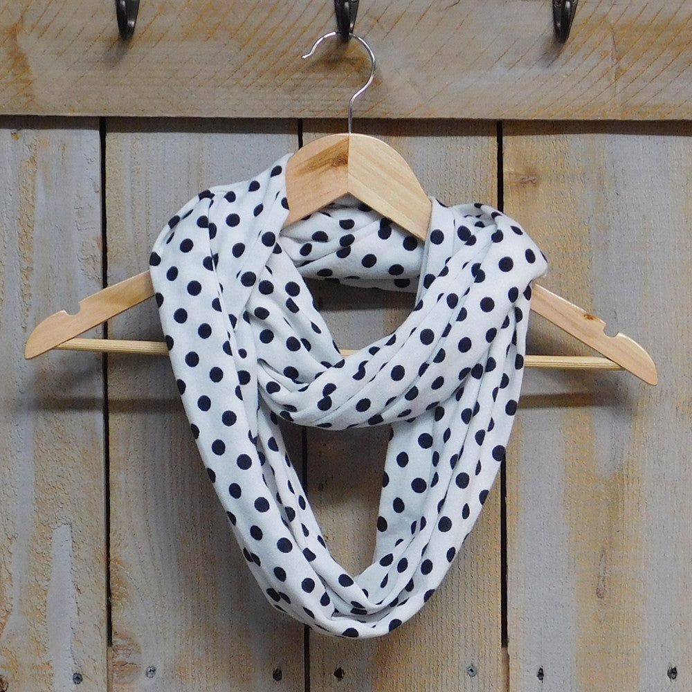 Playful Polkadot Infinity - White - Tickled Pink Wholesale