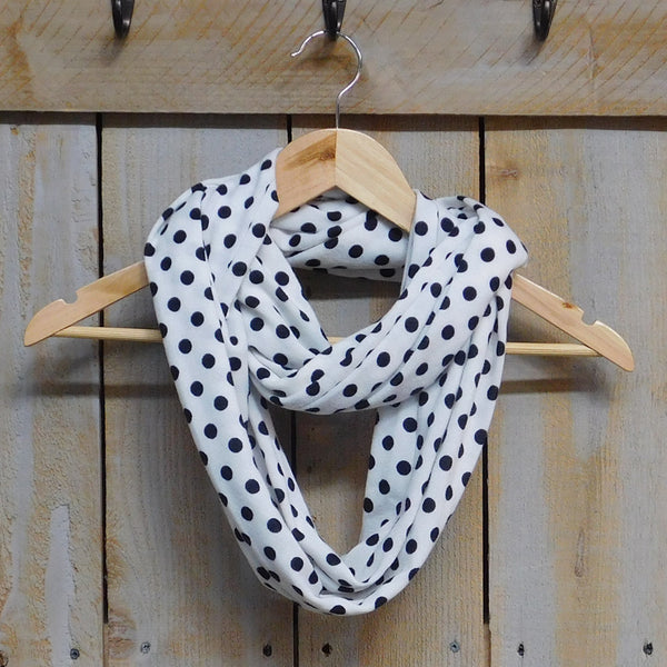 Wholesale Scarves - Playful Polkadot Infinity - White - Tickled Pink