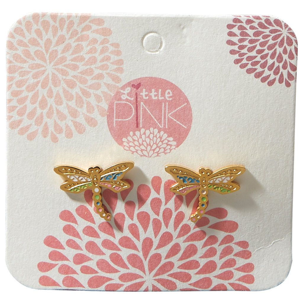 Little Pink Earrings - Dragonfly - Tickled Pink Wholesale