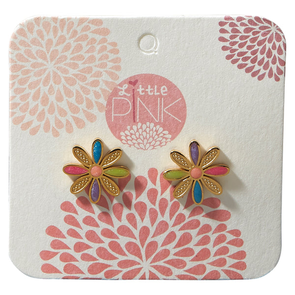 Little Pink Earrings - Daisy - Tickled Pink Wholesale