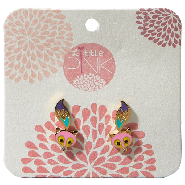 Little Pink Earrings - Fox - Tickled Pink Wholesale