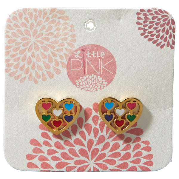 Little Pink Earrings - Heart - Tickled Pink Wholesale
