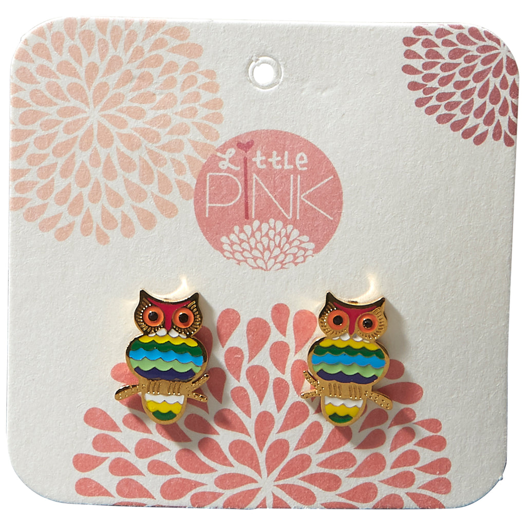 Little Pink Earrings - Owl - Tickled Pink Wholesale