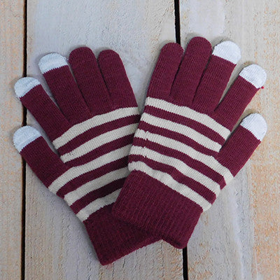 Gameday Texting Gloves, One Dozen - Garnet/Old Gold - Tickled Pink Wholesale