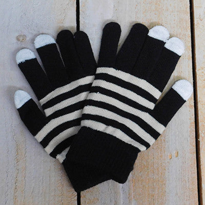 Gameday Texting Gloves, One Dozen - Old Gold/Black - Tickled Pink Wholesale