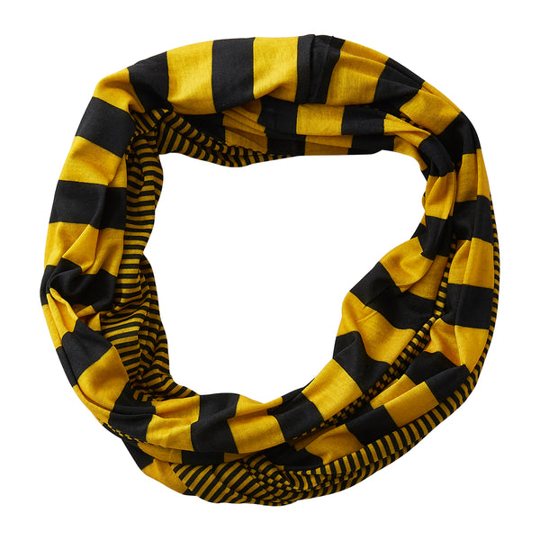 Gameday Stripes Infinity - Black/Gold - Tickled Pink Wholesale