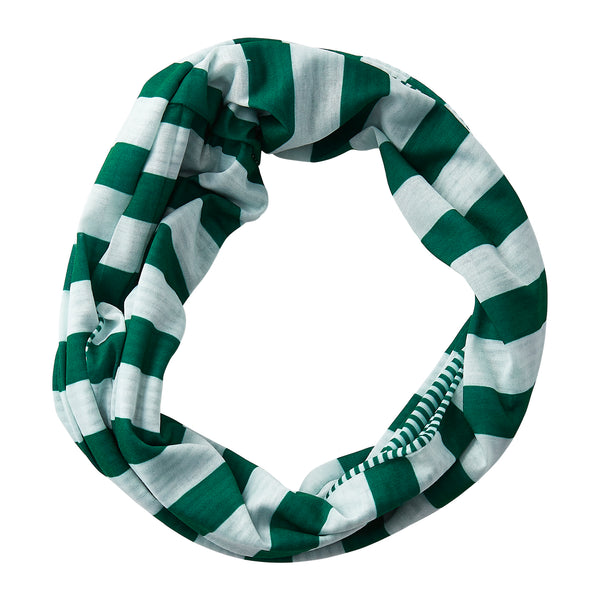 Wholesale Boutique Gifts - Gameday Stripes Infinity - Green/White - Tickled Pink
