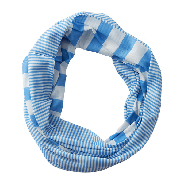 Gameday Stripes Infinity - Light Blue/White - Tickled Pink Wholesale