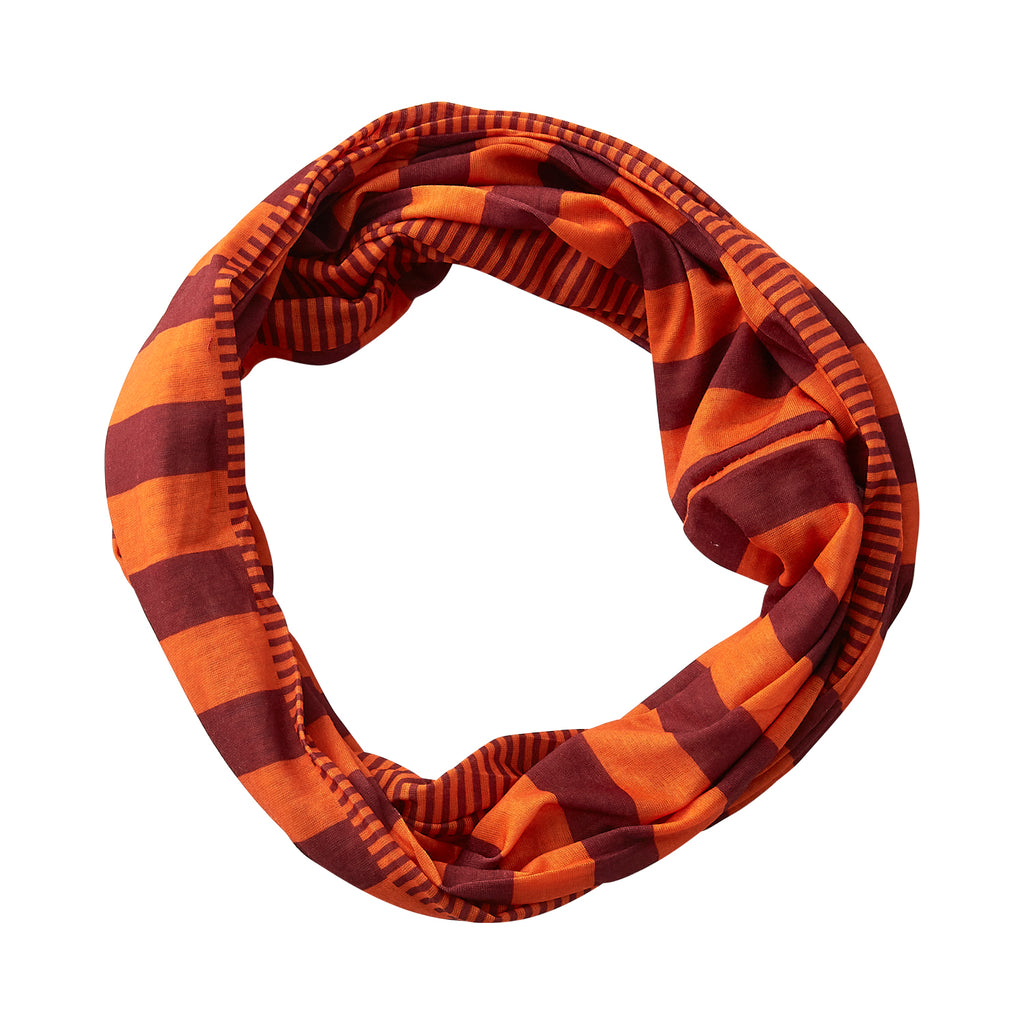 Gameday Stripes Infinity - Maroon/Orange - Tickled Pink Wholesale