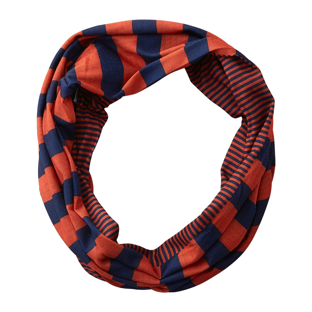 Gameday Stripes Infinity - Navy/Orange - Tickled Pink Wholesale
