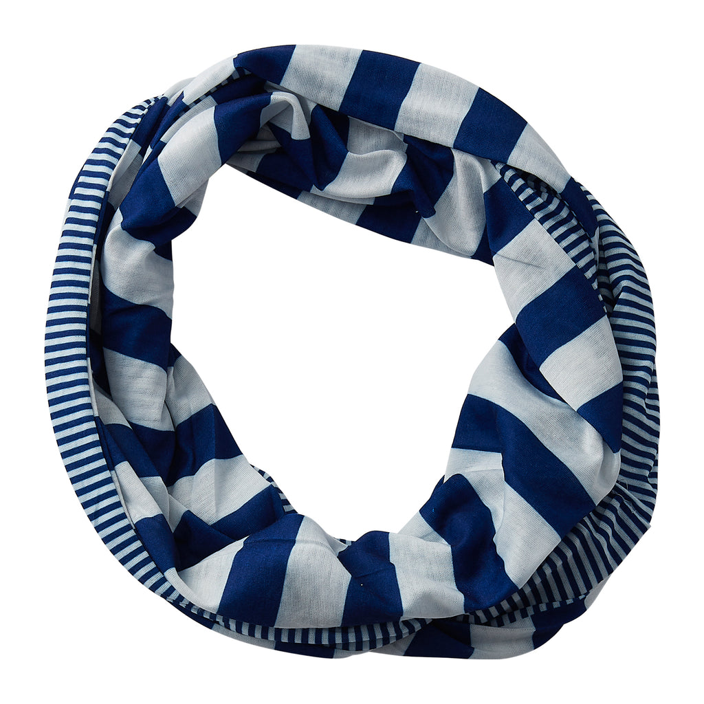 Gameday Stripes Infinity - Royal/White - Tickled Pink Wholesale