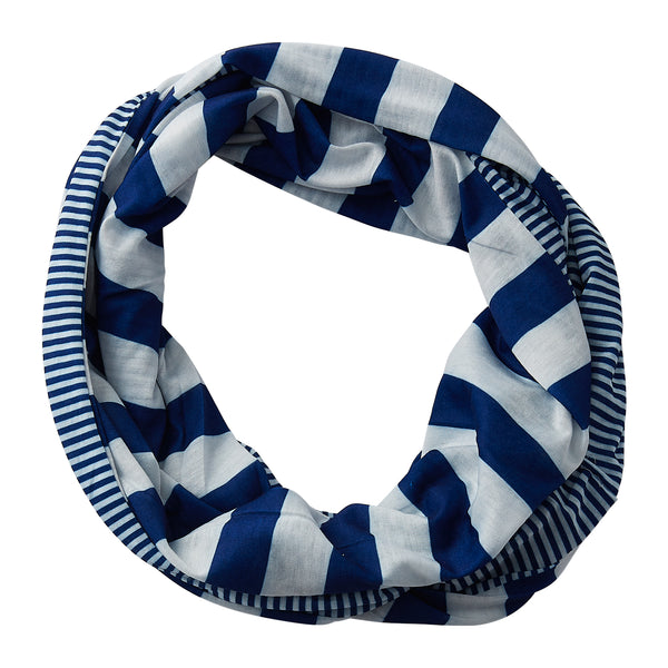 Wholesale Boutique Gifts - Gameday Stripes Infinity - Royal/White - Tickled Pink