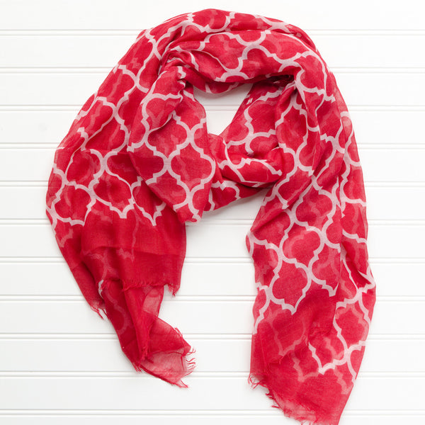 Vibrant Royal Scarf - Crimson - Tickled Pink Wholesale