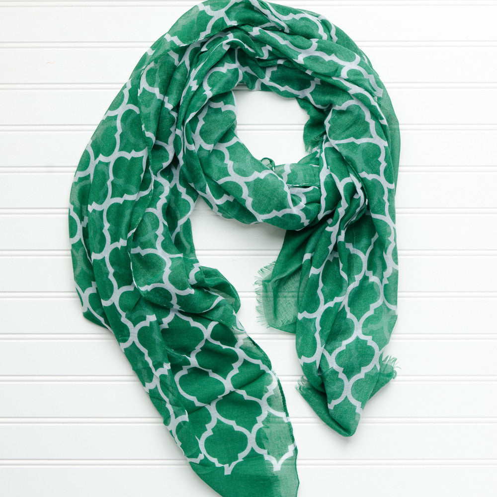 Vibrant Royal Scarf - Green - Tickled Pink Wholesale