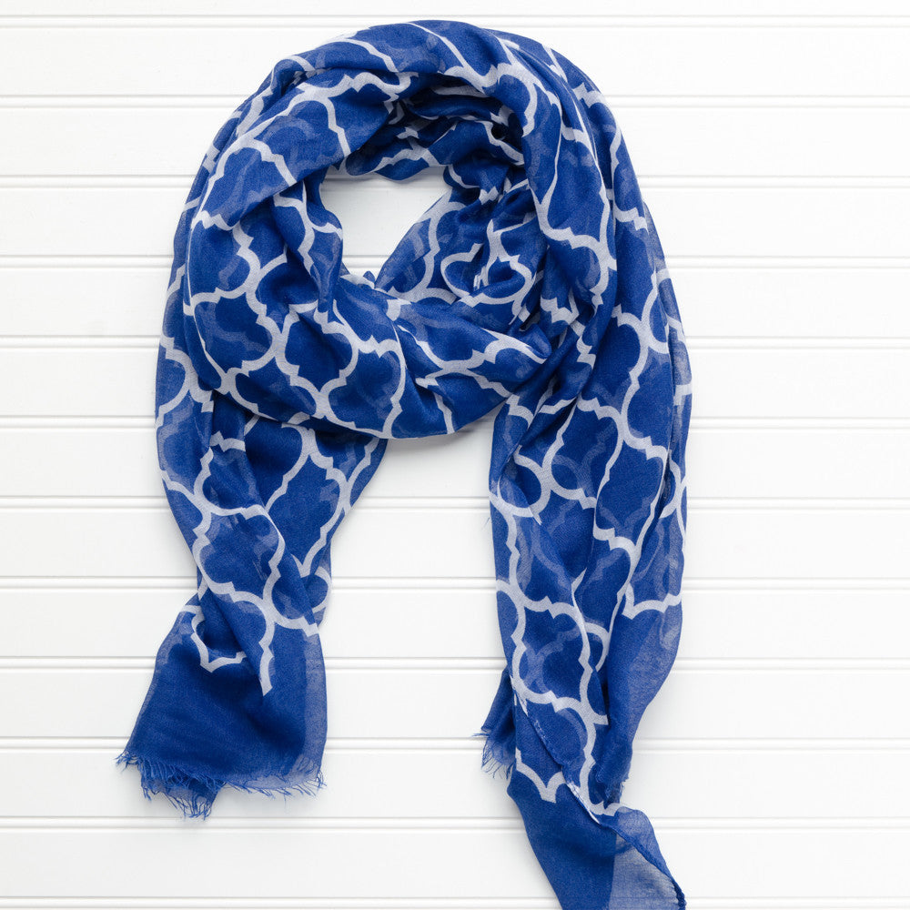 Vibrant Royal Scarf - Royal Blue - Tickled Pink Wholesale