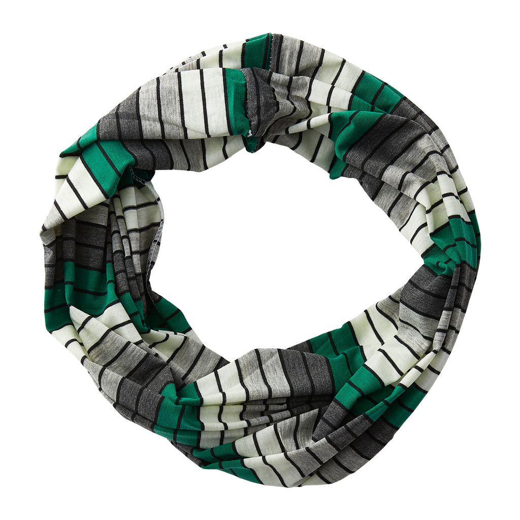 Gray Striped Infinity - Green - Tickled Pink Wholesale