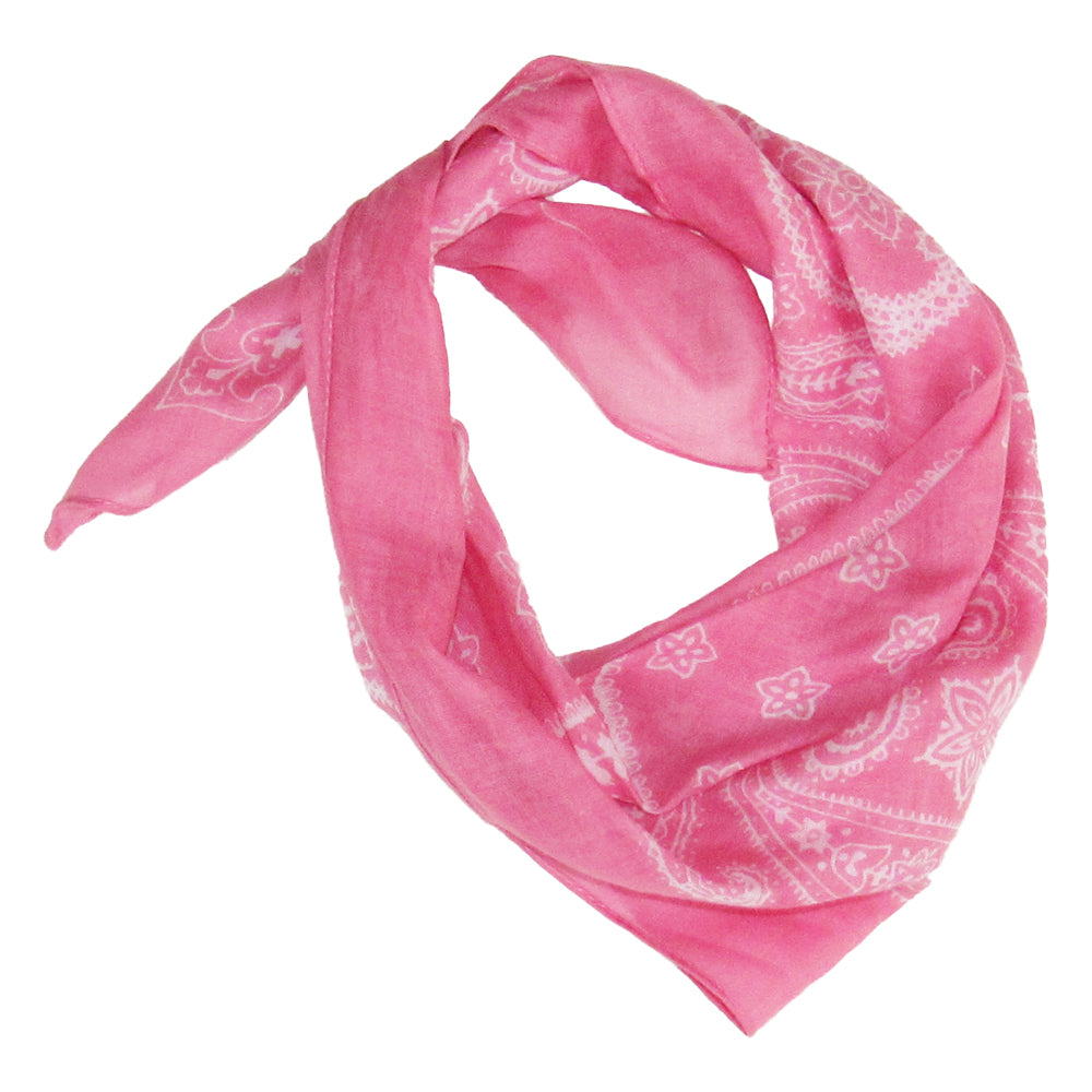 Paisley Kerchief - Pink - Tickled Pink Wholesale