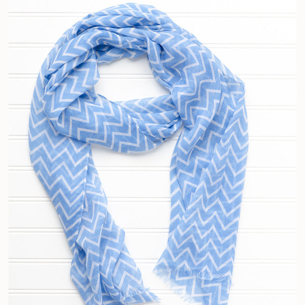 Double Stripe Chevron Scarf - Tickled Pink Wholesale
