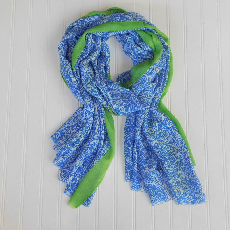 Wholesale Scarves - Paxi Paisley Scarf - Royal Blue - Tickled Pink