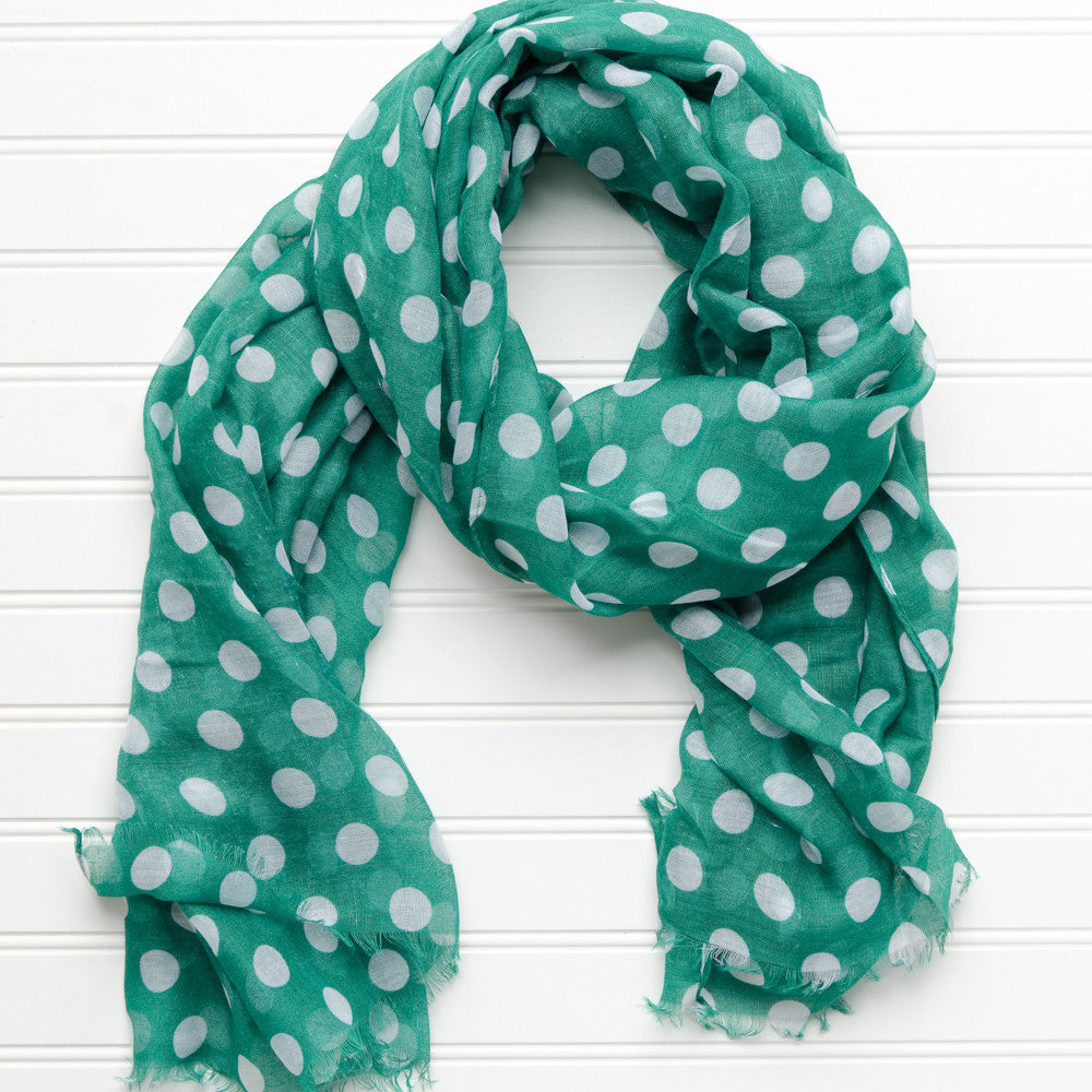Large Traditional Polkadots-Green - Tickled Pink Wholesale