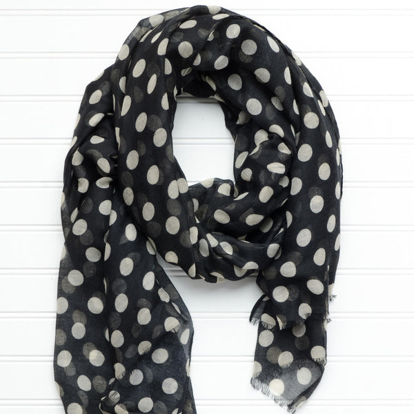 Large Traditional Polkadots-Black-Old Gold - Tickled Pink Wholesale