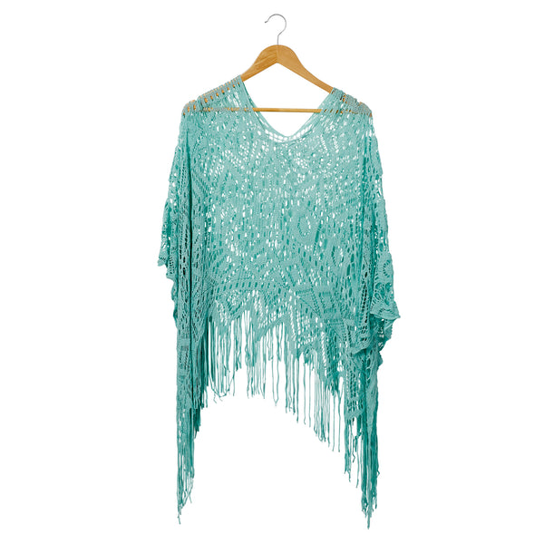 Wholesale Boutique Gifts - Spring Beach Poncho - Seafoam - Tickled Pink
