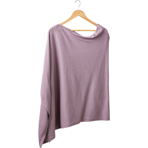 Elegant Solid Cotton Poncho - Lavender - Tickled Pink Wholesale