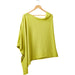 Elegant Solid Cotton Poncho - Lime - Tickled Pink Wholesale