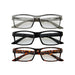 Retro Reading Glasses Set +1.5 - 3Pc Mixed Pack - Tickled Pink Wholesale