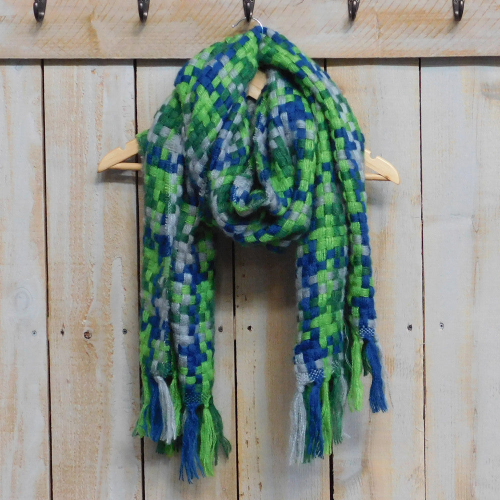 Fabulous Fringed Seahawks Scarf - Tickled Pink Wholesale