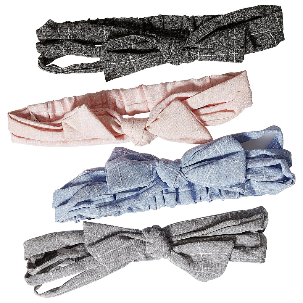 Cotton Headband with Bow - Dozen Assorted
