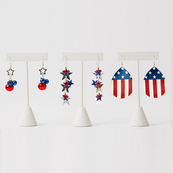 Red, White and Blue Earrings - Tickled Pink Wholesale