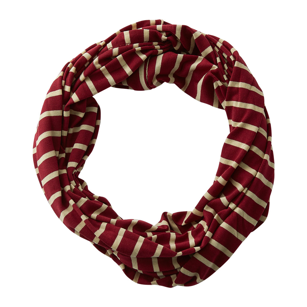 Striped Sport Infinity - Garnet Gold - Tickled Pink Wholesale