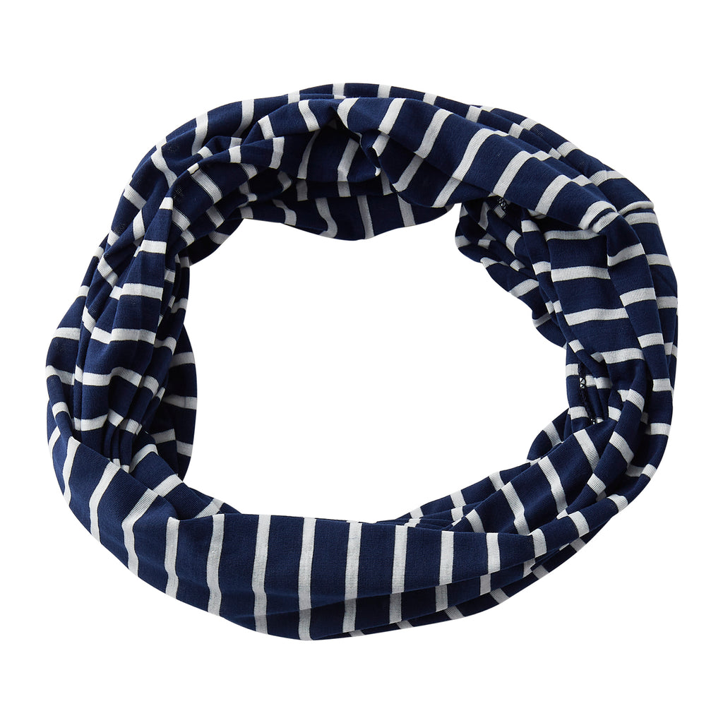Striped Sport Infinity - Navy - Tickled Pink Wholesale