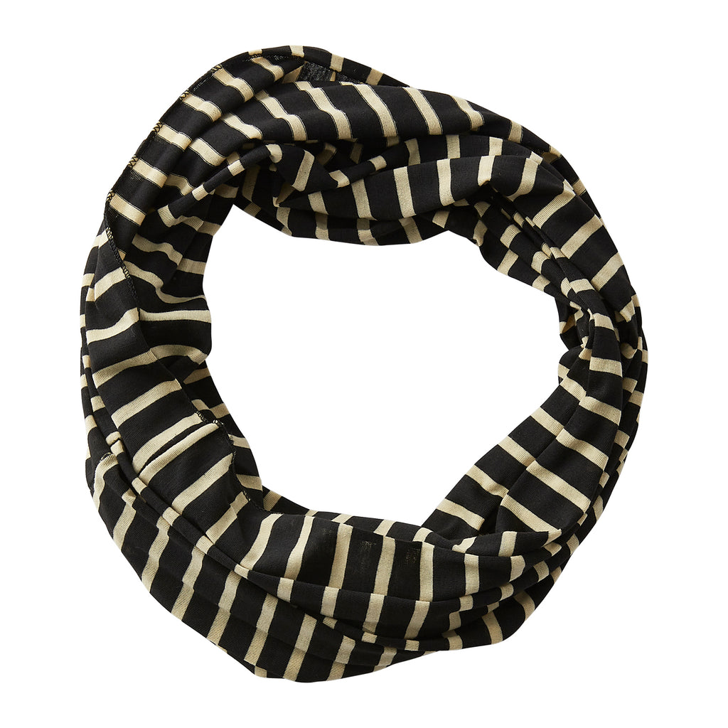 Striped Sport Infinity - Black Old Gold - Tickled Pink Wholesale