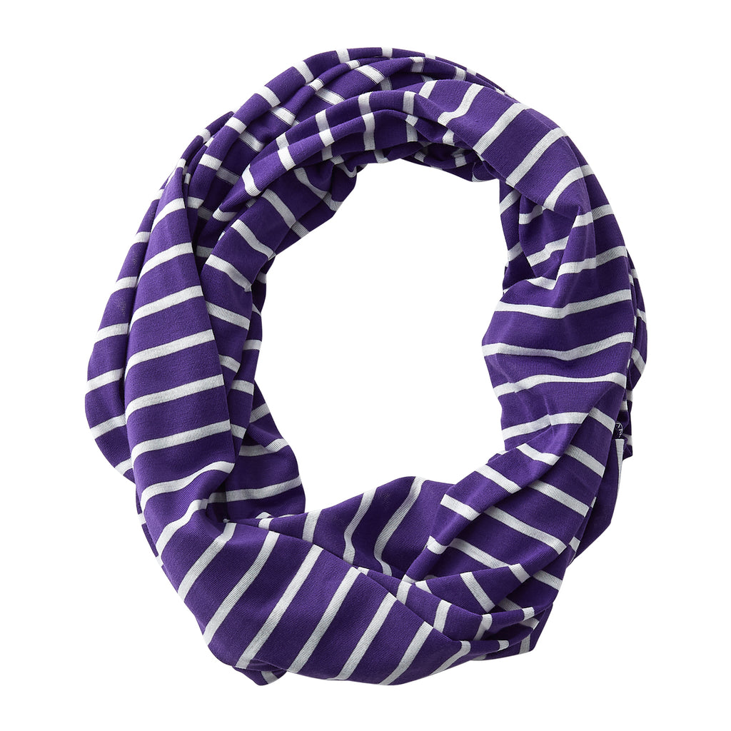 Wholesale Boutique Gifts - Striped Sport Infinity - Purple - Tickled Pink