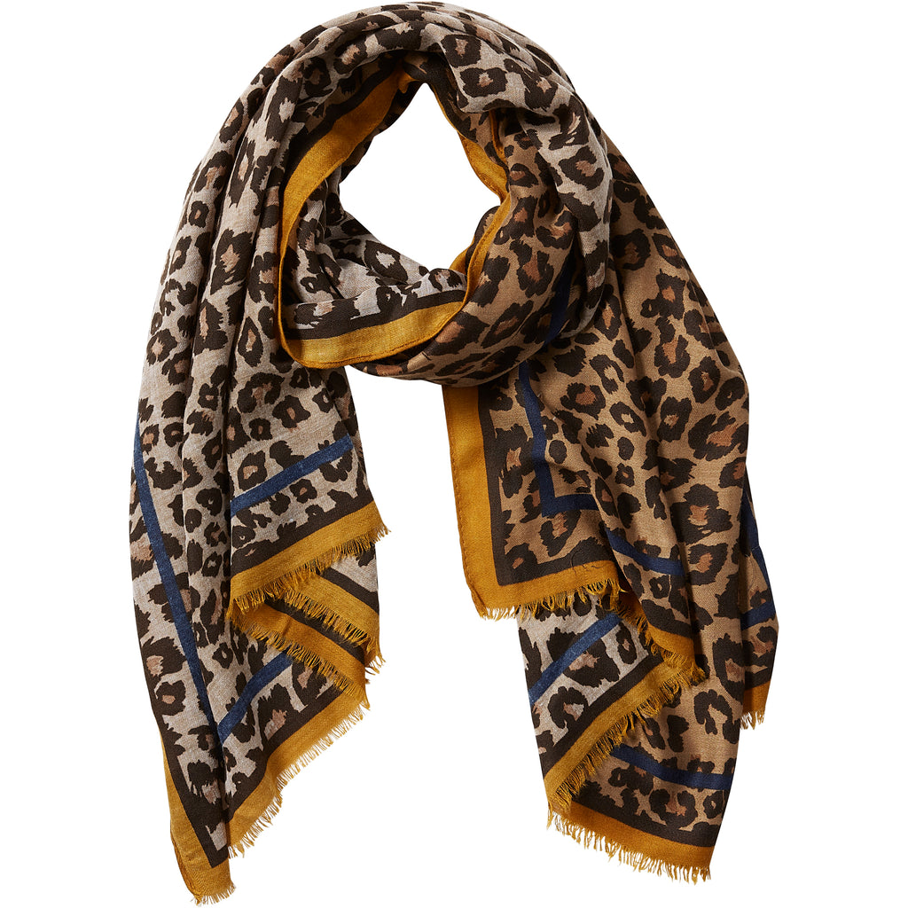 Deb Leopard Scarf - Camel - Tickled Pink Wholesale