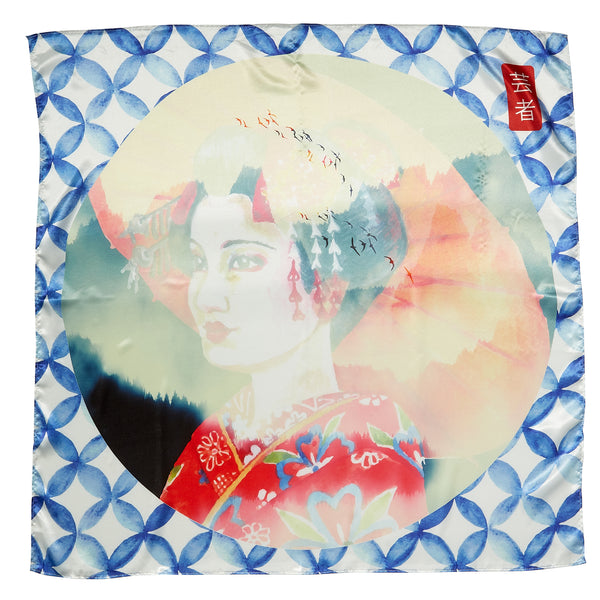 "Maiko Lola Square Scarf Gift Set - 34"" x 34"" - Tickled Pink Wholesale"