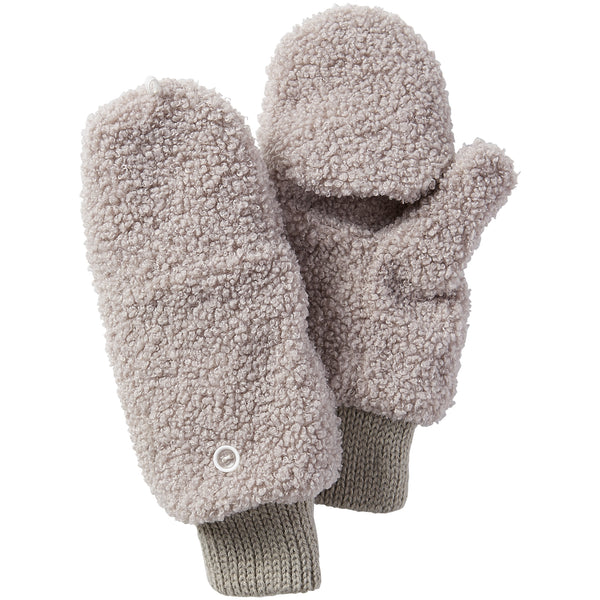 Fuzzy Bunny Mittens - Gray - Tickled Pink Wholesale