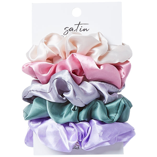 Silky Scrunchie Set - Pastel - Tickled Pink Wholesale