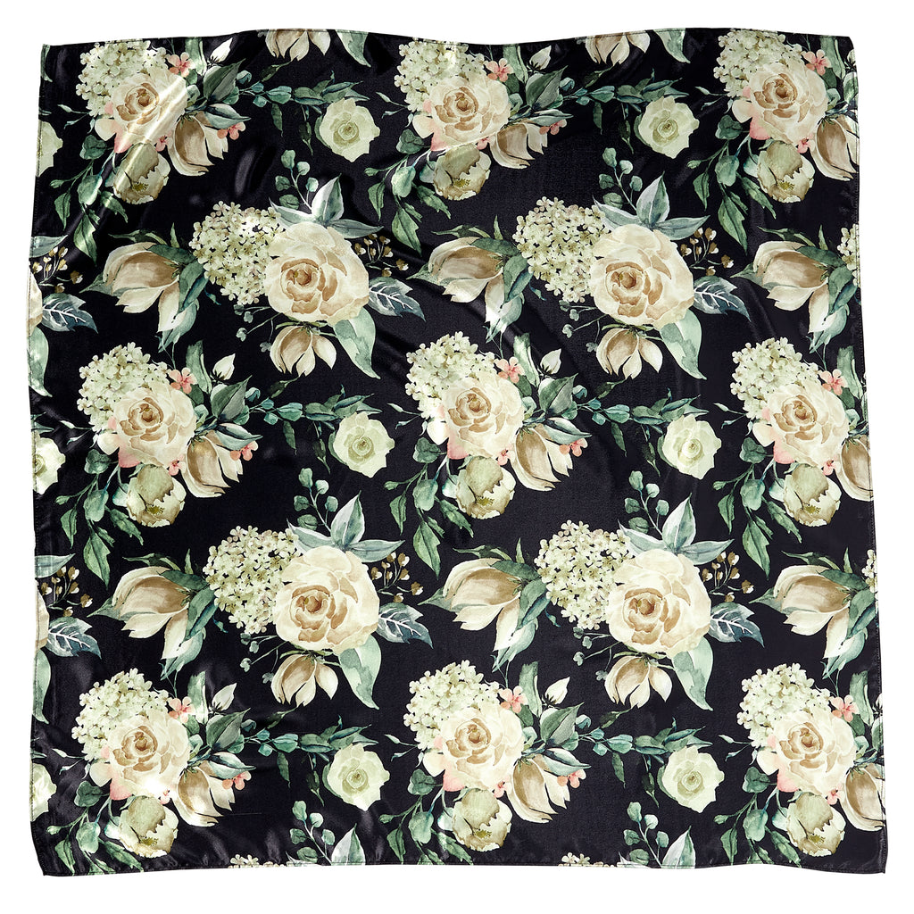 "Winter Floral Lola Square Scarf Gift Set - 34"" x 34"" - Tickled Pink Wholesale"