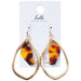 Tortoise Tear Drop Earrings - Tickled Pink Wholesale