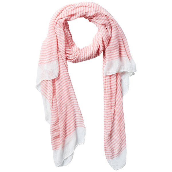 Tiny Stripe Insect Shield Scarf - Coral - Tickled Pink Wholesale