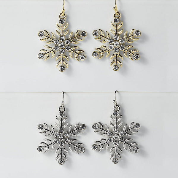Snowflakes Earrings Mixed 6 Pack - Tickled Pink Wholesale