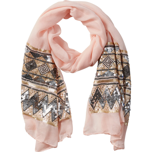Blush Eleanor Sequin Scarf - Tickled Pink Wholesale