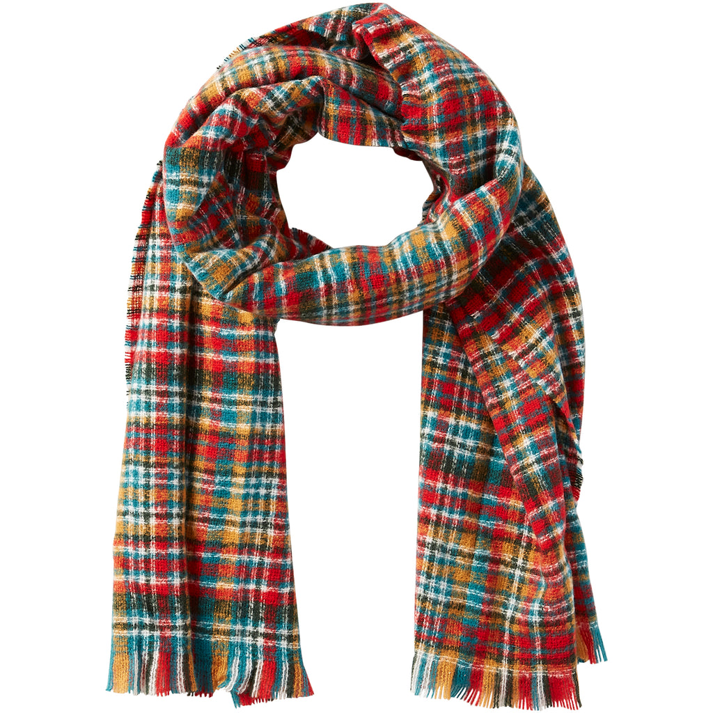 Dean Plaid Scarf - Forest - Tickled Pink Wholesale