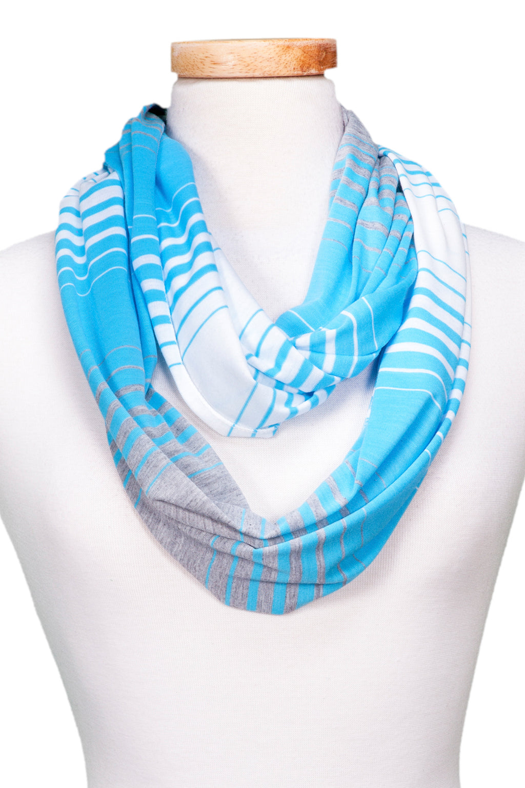 wholesale  Multi-Stripe Jersey Infinity - Turquoise